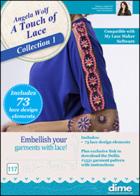 DIME Inspiration Designs - Angela Wolf A Touch of Lace Collection 1