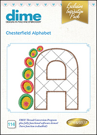 DIME Inspiration Designs - Chesterfield Alphabet