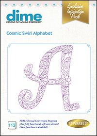 DIME Inspiration Designs - Cosmic Swirl Alphabet