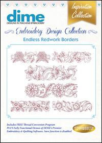 DIME Inspiration Designs - Endless Redwork