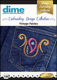 DIME Inspiration Embroidery Designs - Vintage Paisley