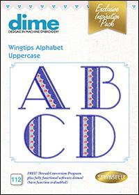 DIME Inspiration Designs - Wingtips Alphabet Uppercase