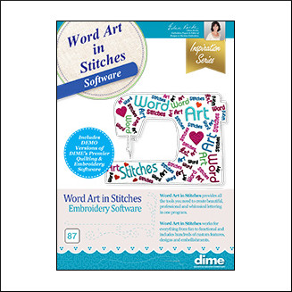 DIME Inspiration Word Art in Stitches Software