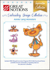 Great Notions Embroidery Designs - Annie Lang Monsters