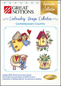 Great Notions Embroidery Designs - Contemporary Country