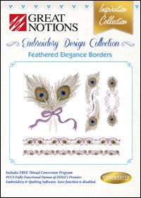 Great Notions Embroidery Designs - Feathered Elegance Borders