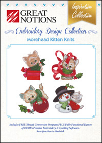 Great Notions Embroidery Designs - Morehead Kitten Knits