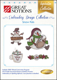 Great Notions Embroidery Designs - Snow Pals