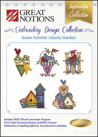 Great Notions Embroidery Designs - Susan Schmitz Liberty Garden