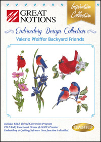 Great Notions Embroidery Designs - Valerie Pfeiffer Backyard Friends