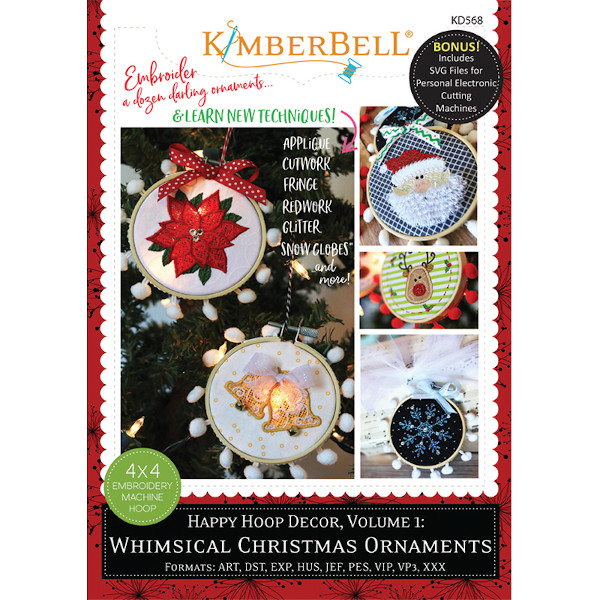 Kimberbell Designs - Happy Hoop Decor, Volume 1, Whimsical Christmas Ornaments