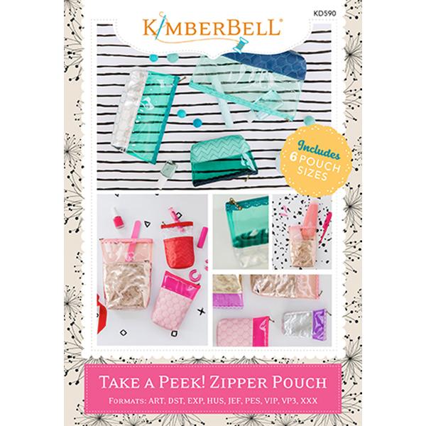Kimberbell Designs - Take a Peek! Zipper Pouch
