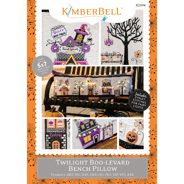 Kimberbell Designs - Bench Pillow, Twilight Boo-Levard, Machine Embroidery