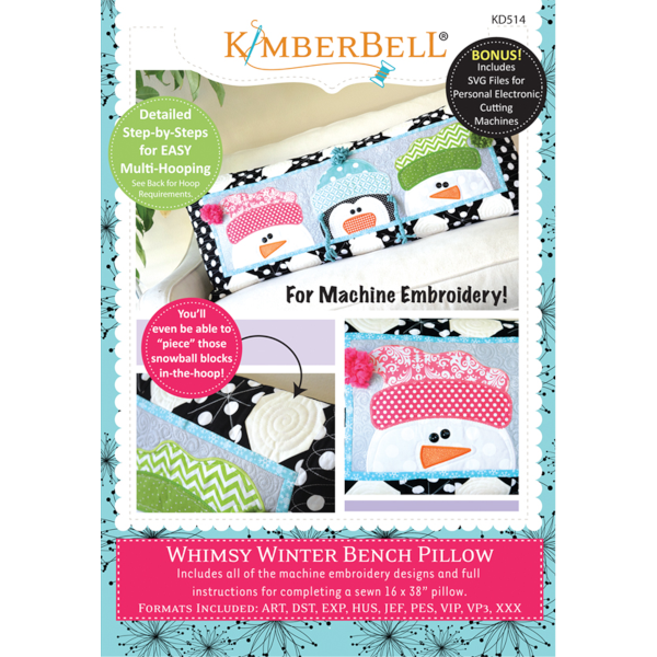 Kimberbell Designs - Bench Pillow, Whimsy Winger, Machine Embroidery