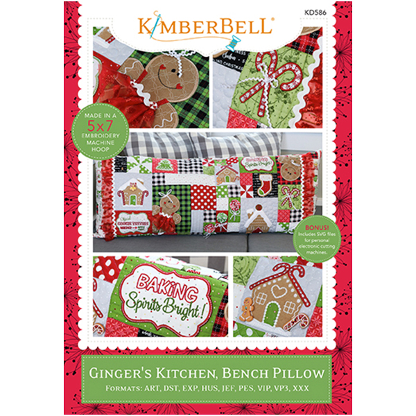 Kimberbell Designs - Bench Pillow, Ginger's Kitchen, Machine Embroidery