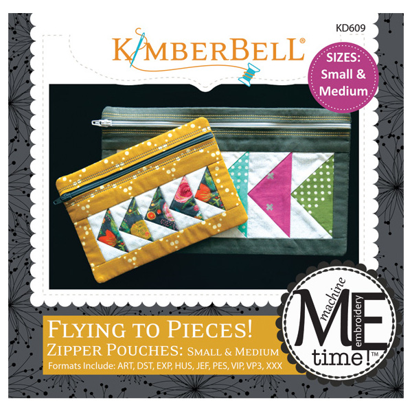 Kimberbell Designs - ME Time: Flying to Pieces Zipper Pouch (Small & Medium)