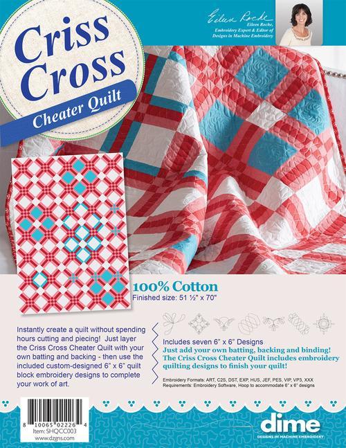 DIME Criss Cross Cheater Quilt