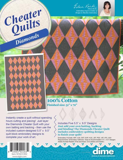 DIME Diamonds Cheater Quilt