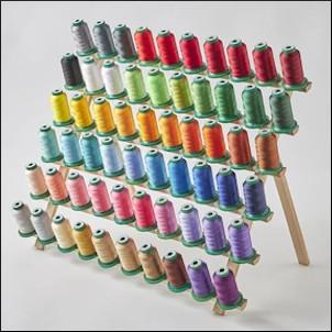 DIME Exquisite Thread Assortment Bundle - 60pk 1k Meter Spools + Thread Rack