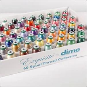 DIME Exquisite Thread Assortment - 60pk 1000 Meter Spools