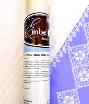 Embellish Rinse Away Clear Topper