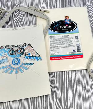 Embellish Sticky Printable Template