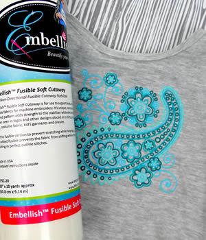 Embellish Soft Fusible Cutaway Stabilizer
