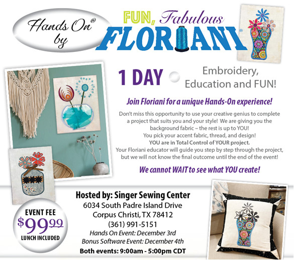 Floriani Hands-On Embroidery Event